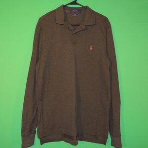 Polo Ralph Lauren Mens L Custom Fit Mesh Shirt